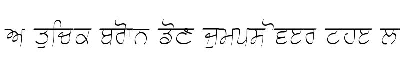 Preview of Choti Script 3 Light Light