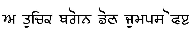 Preview of Gurmukhi Old Letterpress Regular
