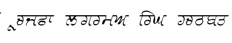 Preview of GurmukhiLys 030 Italic