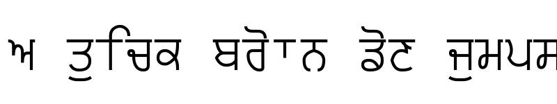 Preview of Punjabi Typewriter Regular